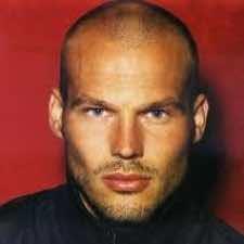 Bald man stubble
