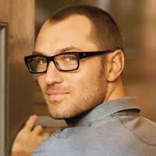 bald man glasses