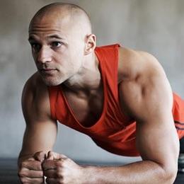 fit bald man